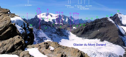 <b>From <font color=green>MOUNT AVRIL </font>to <font color=green>MOUNT BLANC SUMMITS</FONT> and <FONT COLOR=PURPLE>Brèches</font></b>