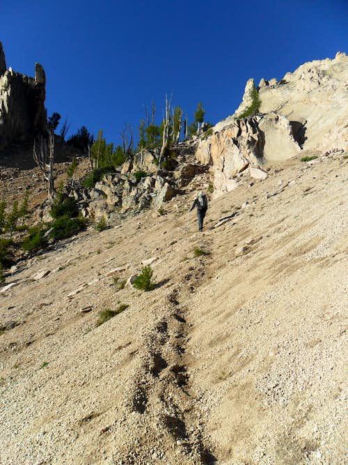Mount Heyburn - Stur Chimney Approach