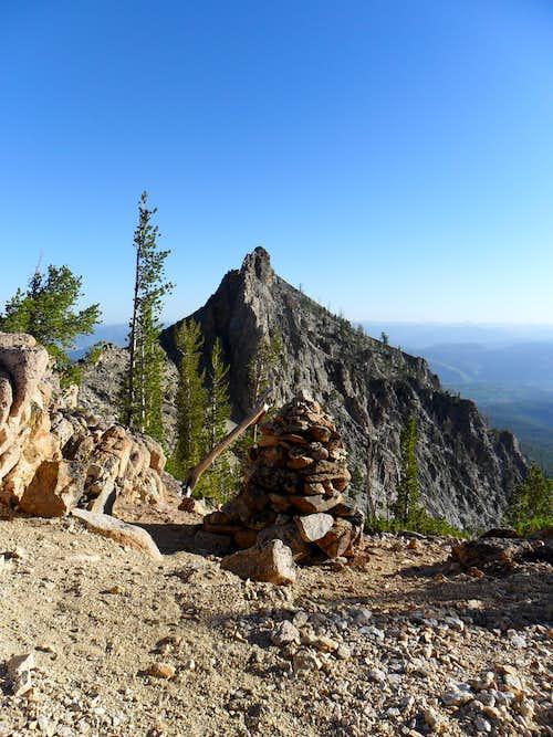 Mount Heyburn - Carin on the Saddle