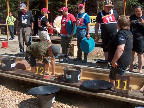 World championships of gold-panning in Zlaté Hory