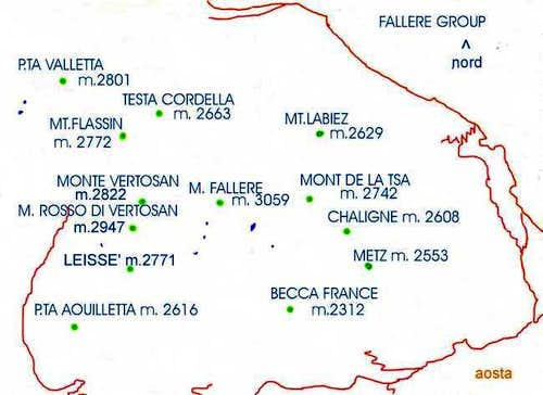 The area of the Fallere Group...