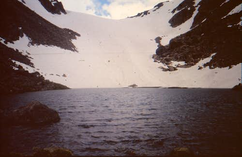 Andrews Glacier across the Lake