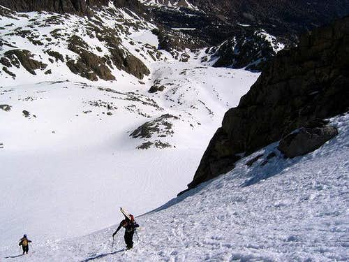 Booting up the NE couloir of...