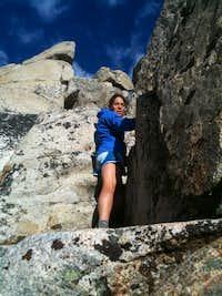 Caren on Pyramid's North Ridge