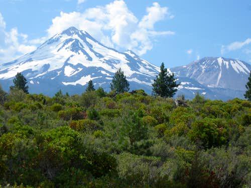 North side of Mount Shasta