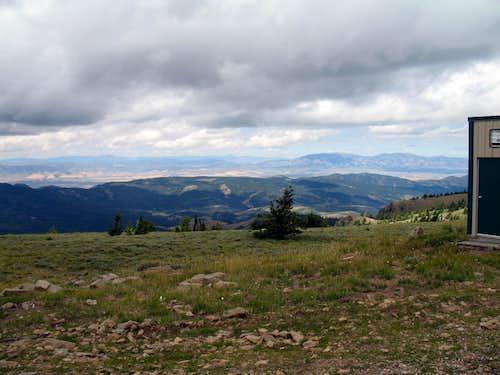 Looking northwest