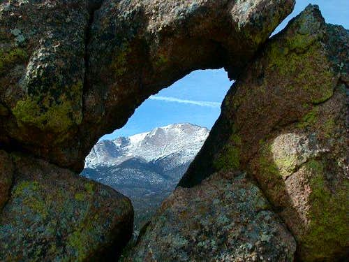This is a view of Pikes Peak...