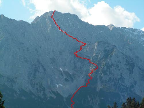 Gamsanger route