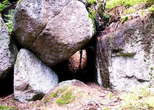 Granite boulders...