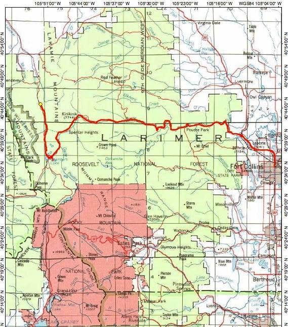Rawah TH Locator Map