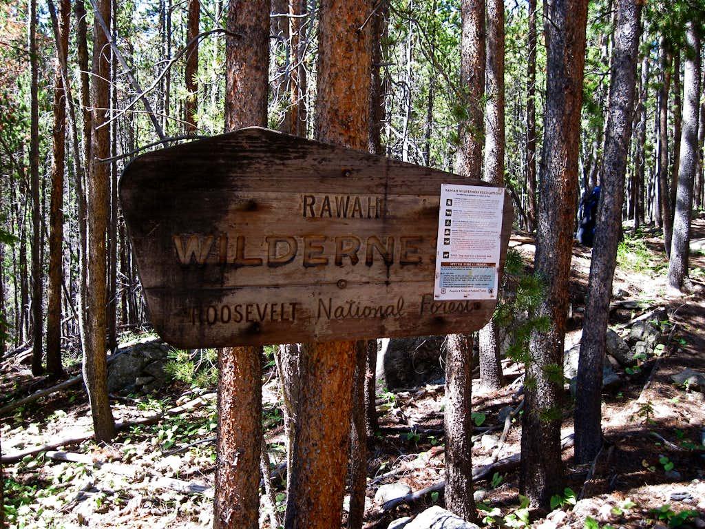 Rawah Wilderness Sign