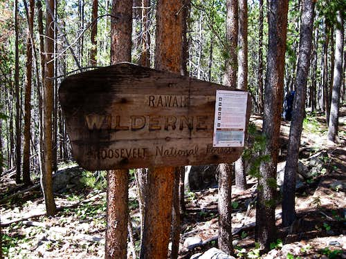 Rawah Wilderness Sign