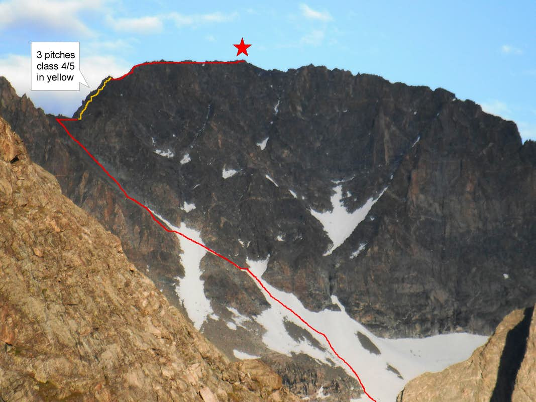 West Face Gannett Route