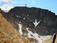 West Face Gannett Route