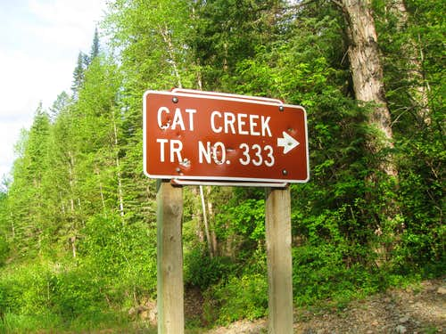 Cat Creek Trailhead Sign