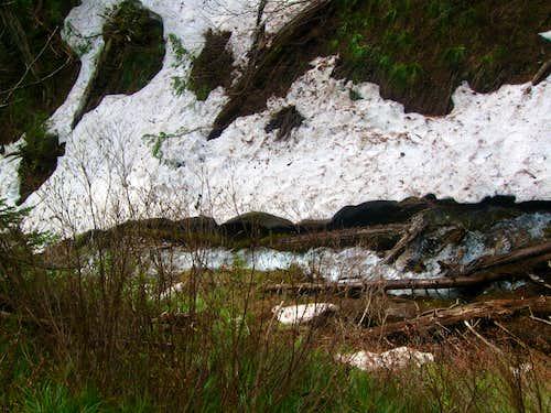 Cat Creek with snow