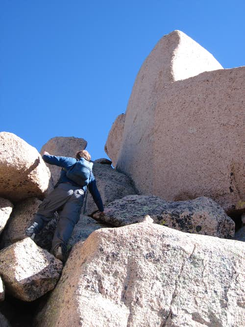 Some of the summit boulders