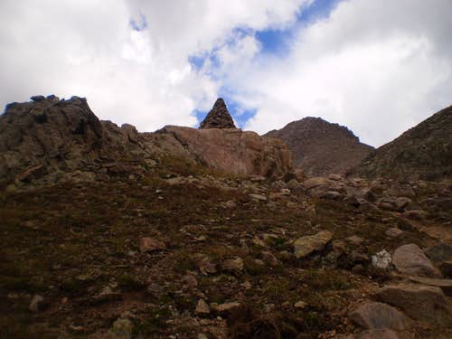 One of the large Cairns left by the Colorado 14ers initiative