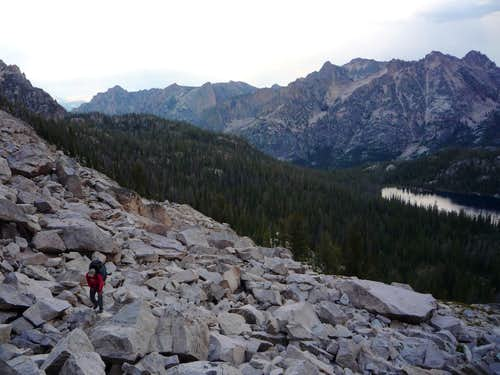Talus above Alpine Lake