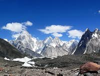Gasherbrum Peaks and Mitre Peak