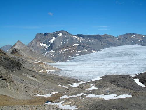Wildstrubel and Plaine Morte glacier