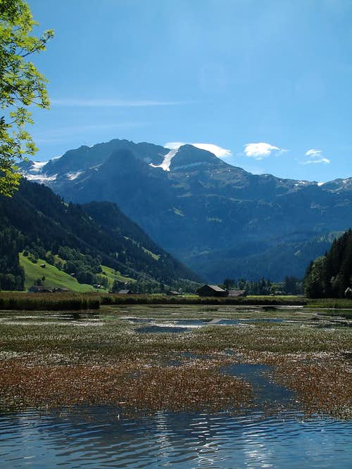 The Wildstrubel seen from the Lenkseeli lake
