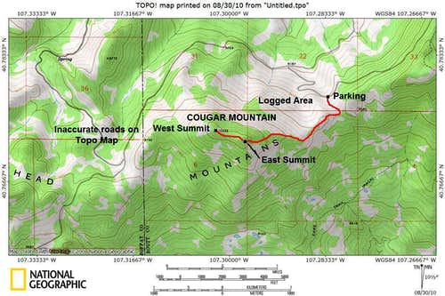 Cougar Mountain Map