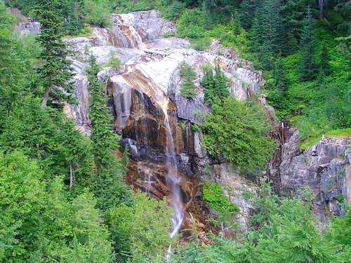 Upper falls along the hike in.
