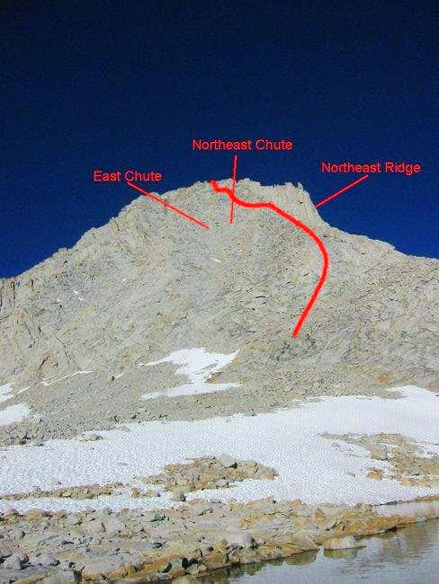 Merriam Peak from the outlet...