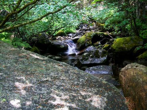 Waterfall along the way