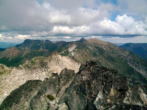 View east from the summit