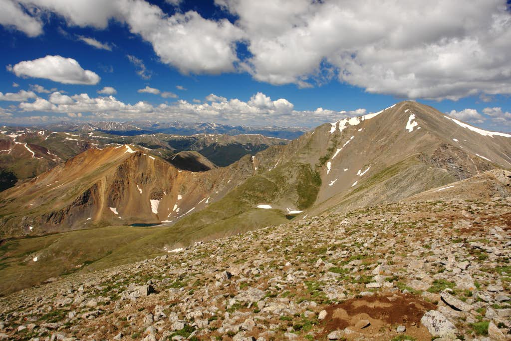 Grays Peak and Ruby Mountain from Mount Edwards