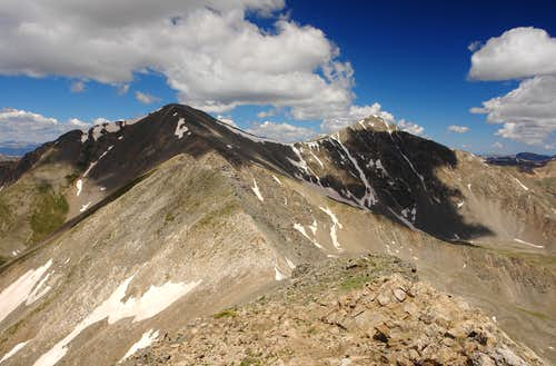 Grays and Torreys Peaks from Mount Edwards