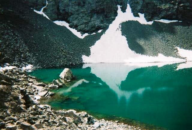 Alpine lake below Blanca...