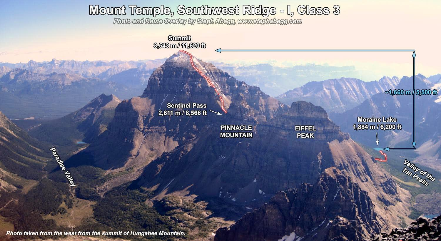 Mt. Temple, SW Ridge