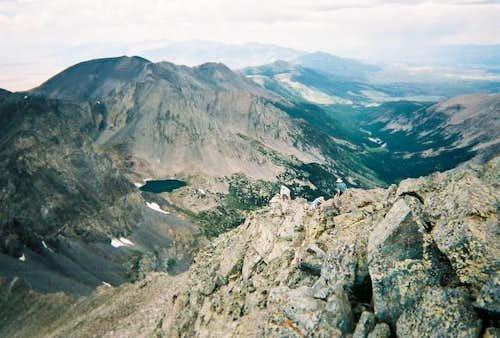 Looking down Blanca's West...