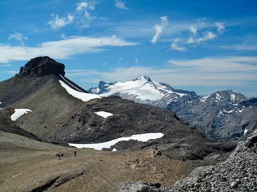 Rohrbachstein (2950m) and Wildhorn (3248m)