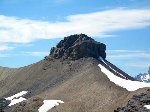 Close-up on the Rohrbachstein (2950m) with it's characteristic