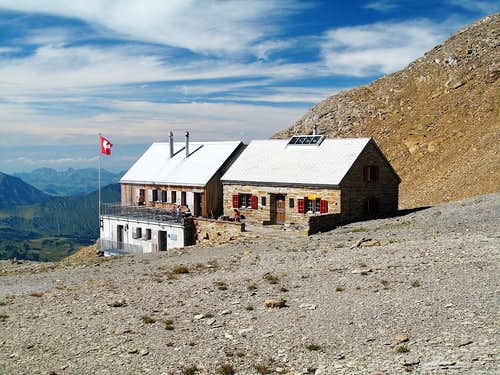The Wildstrubel hut on 2793 meters