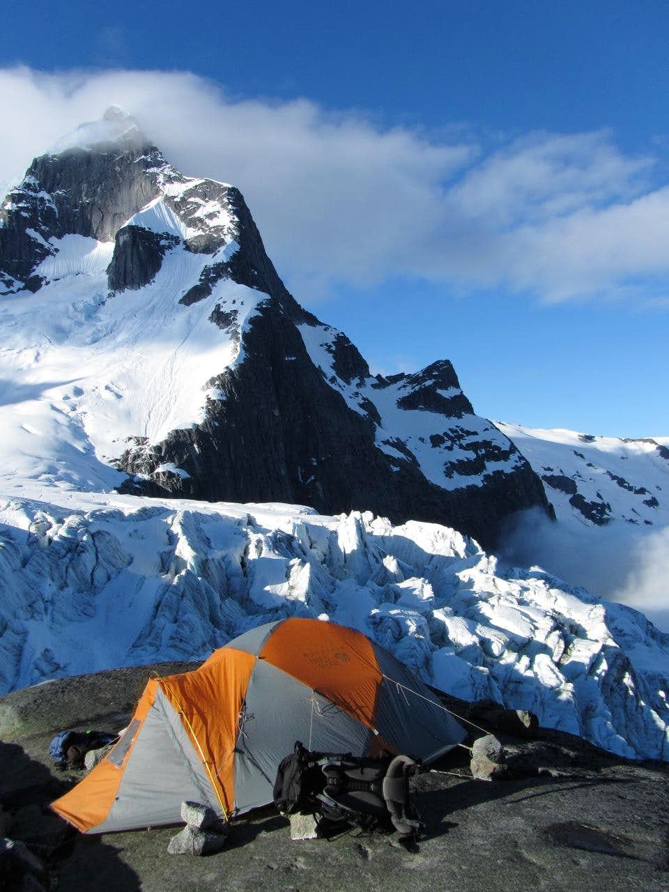 Our Camp under Mt. Bute