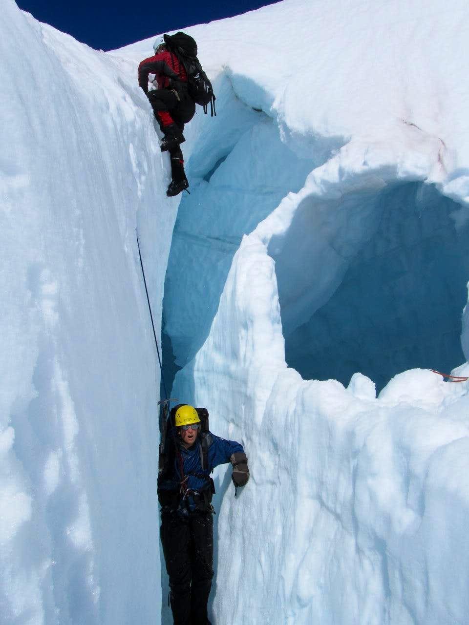 Practicing Crevasse Rescue!