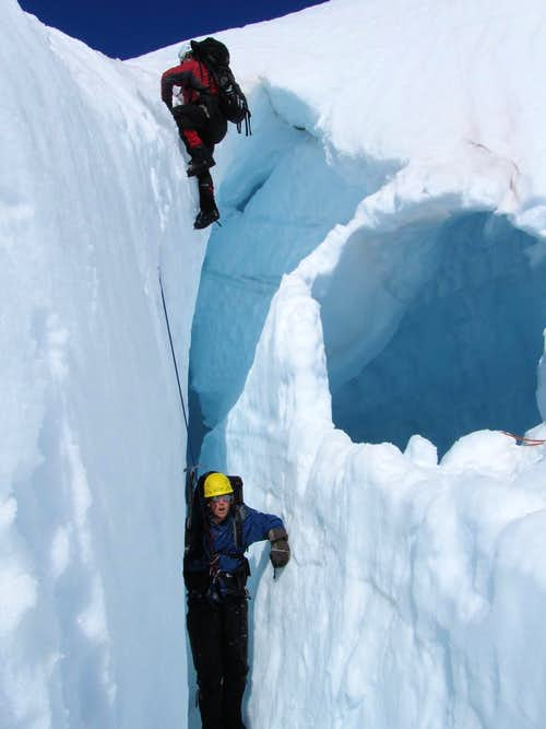 Practicing Crevasse Rescue!