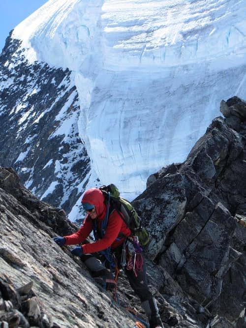 Placing Pro on the North Ridge of Mt. Queen Bess