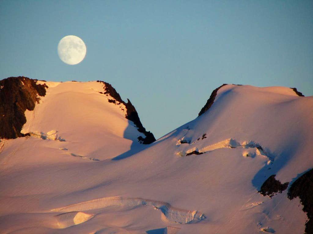 Moonrise on the Homathko Icefield