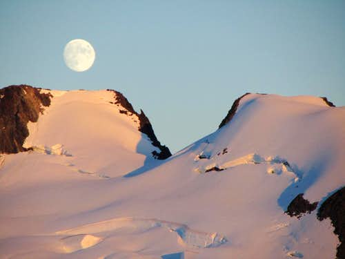 Moonrise on the Homathko Icefield