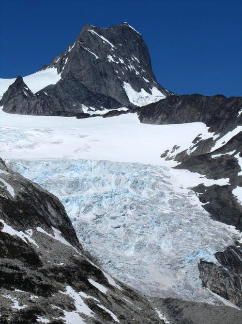 Icefall and Mt. Queen Bess
