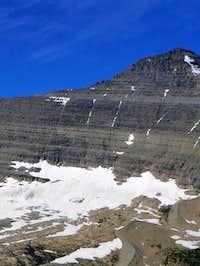 Kintla Peak from above the Agassiz Basin