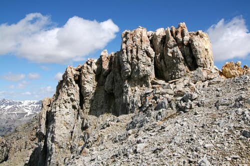 Outcrop near the Summit