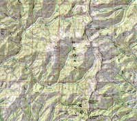 Area map of Big Peak