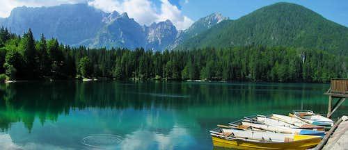 Lake called Fusine